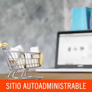 Sitio autoadministrable con carro de compras
