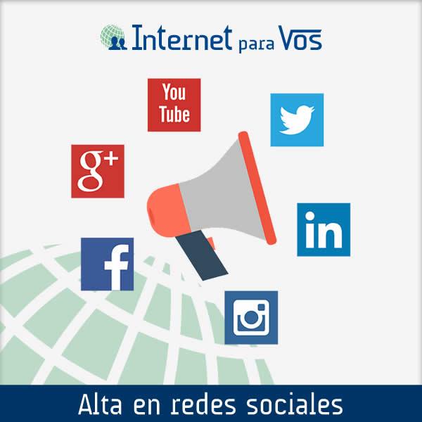 Alta de perfiles en redes sociales