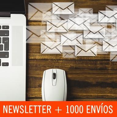 Newsletters envío a 1000 contactos