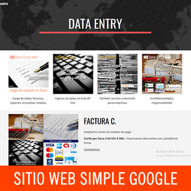 Sitio web simple autoadministrable