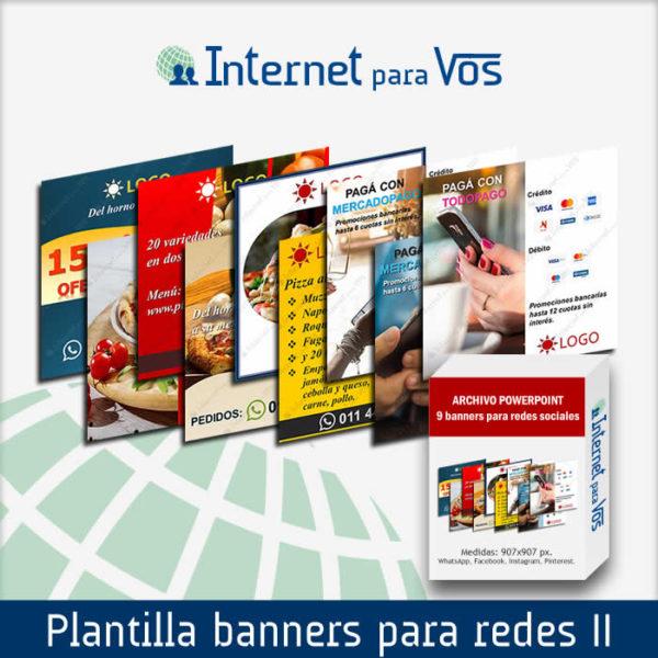 Plantilla de 9 banners para redes sociales: WhatsApp, Instagram, Facebook 2