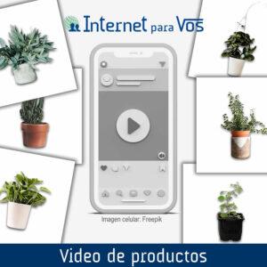 Video de productos para redes sociales